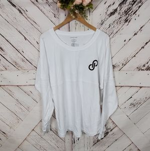 Poshmark Jersey White & Maroon Long Sleeve Jersey…